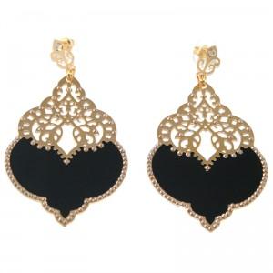 Luxury Black Gold Statement Earrings Jewellrys Website