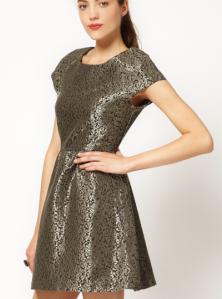 Jacquard dress, baroque dress, gold dress, asos dress, jacquard, baroque, fall fashion