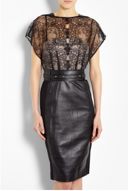 Catherine Deane, Mandy lace and leather dress, lace and leather dress, get the look rosie huntington whiteley, get the look jason wu, get the look, celebrity get the look, fall fashion, fashion, lace dress, leather dress