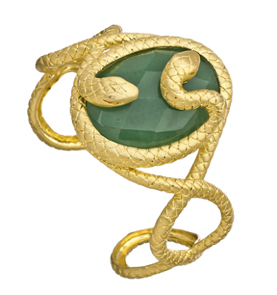 snake jewelry, jewelry trend, fashionable snake jewelry, bvlgari snake collection, bvlgari serpentine collection, serpentine jewelry, snake inspired jewelry, jewelry gifts, max and chloe snake cuff, gold snake cuff, green snake cuff, green aventurine snake cuff, aventurine snake cuff, fashionable snake cuff, affordable snake cuff, fashionable snake cuff