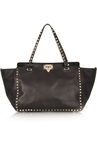 VALENTINO The Rockstud leather tote