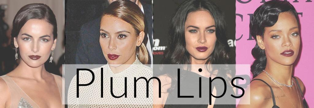 celebrity makeup, plum lipstick, fashion blog, beauty blog, best beauty blog