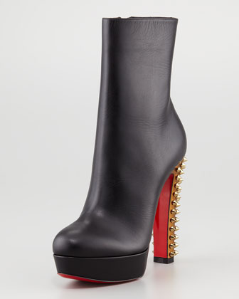 Christian Louboutin Taclou Spiked-Heel Red Sole Bootie, $1,295