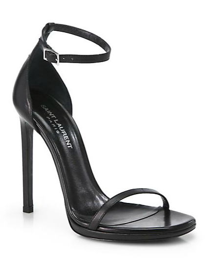 YSL Janis Leather T-Strap Sandal at Saks Fifth Avenue, $795