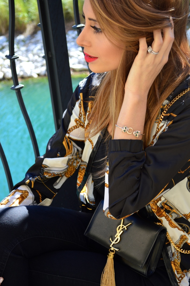 versace, versace jacket, versace inspired jacket, ysl, ysl purse, ysl monogramme crossbody, ysl tassle purse, glam girl, fashion blog