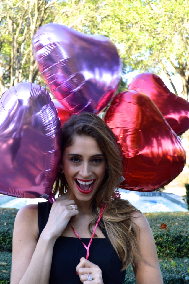 valentine's day outfit, what to wear on valentine's day, heart balloon,
