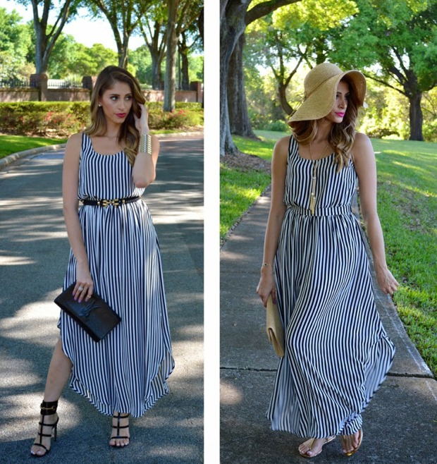 kardashian kollection, kardashian striped maxi, henri bendel, kardashian black and white dress, super fashionable, ananda saba, fashion blog, gucci ursula