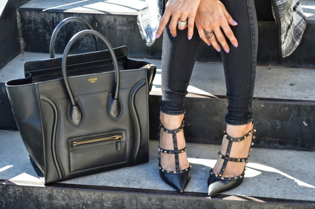 fashion blog, fashion blogger, fashionista, rock stud noir valentino, maison valentino, celine bag, celine luggage purse, best fashion blog, best fashion blogger, ananda saba