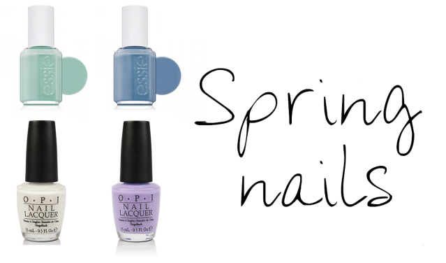 essie truth or flare, opi funny bunny, essie fashion playground, opi do you lilac it, spring nails, nail polish, spring trends, nail trends