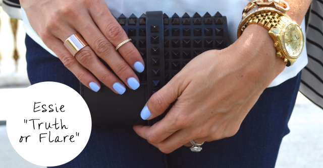 essie truth or flare, spring nails, nail polish, spring trends, nail trends, super fashionable