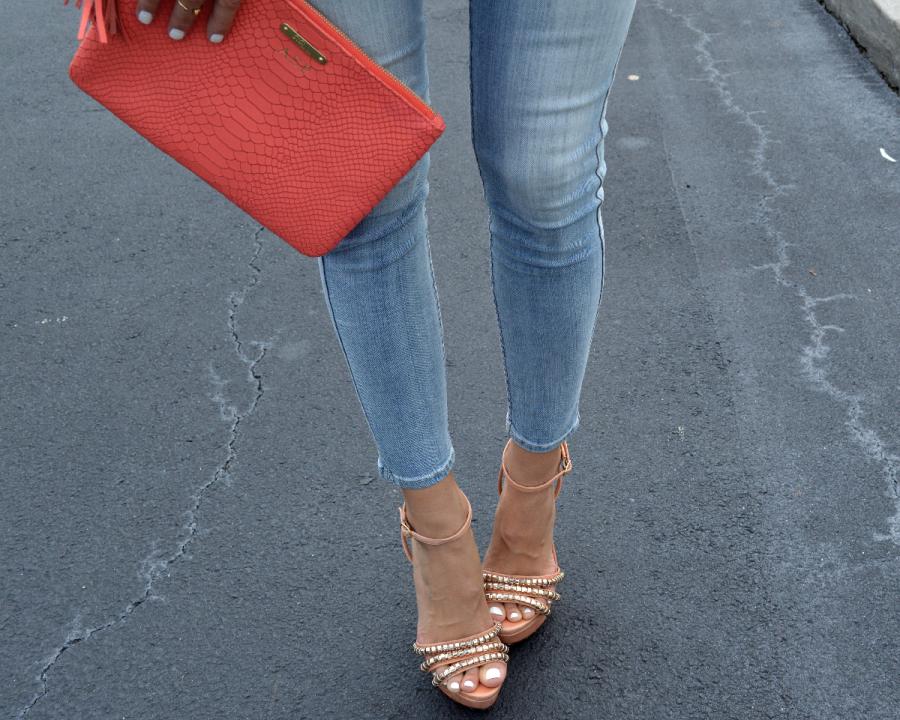 gigi new york clutch, schutz high heels, 7 for all mankind skinny jeans, ananda saba, super fashionable, best fashion blog