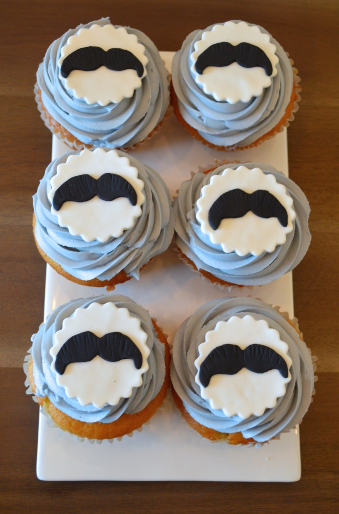 gender reveal party, gender reveal party ideas,  mustache cupcakes