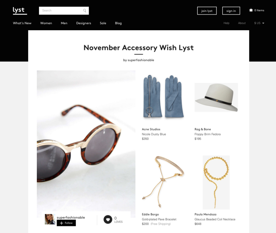 Lyst, accessory list, must have accessories, must have november accessories, ananda saba, super fashionable, fashion blog, best fashion blog