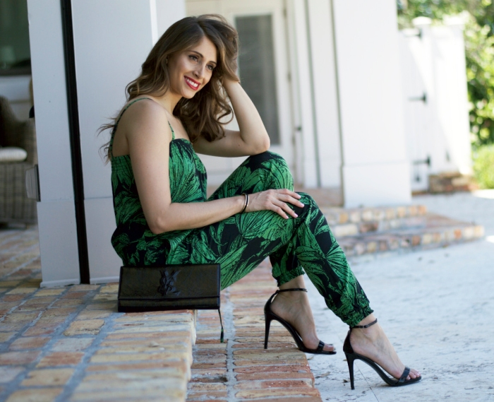 palm print jumpsuit, desigual aloha jumpsuit, desigual jumpsuit, super fashionable, ananda saba
