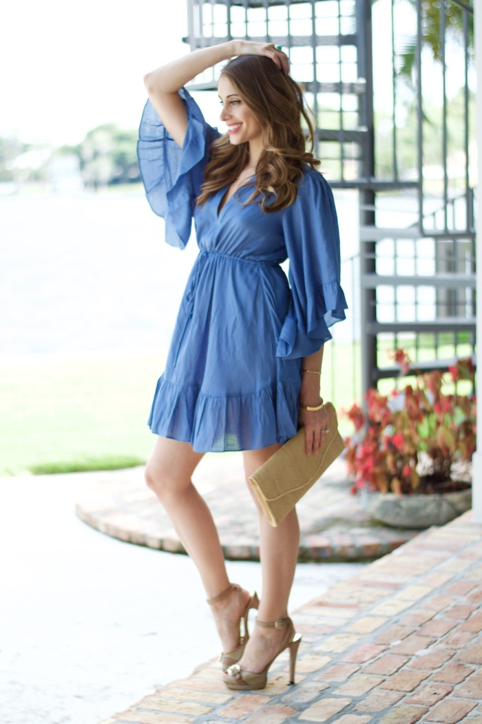 bcbg emileigh dress, ananda saba, fashion blog, summer dress, blue boho dress