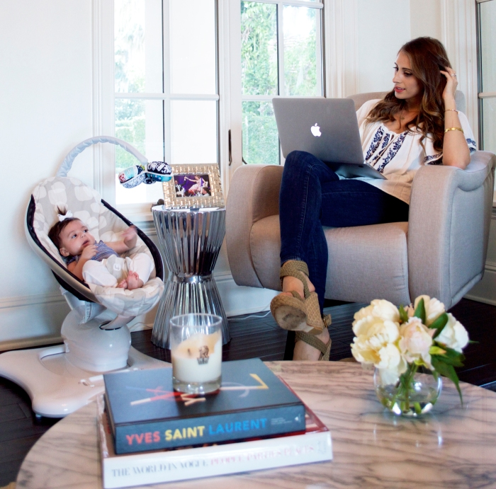 Delta Lux Swivel Chair, ysl book, 4moms mamaroo, baby chair, baby room, vogue books, super fashionable, ananda saba